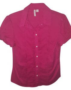 Old Navy Button Down Shirt Hot Pink