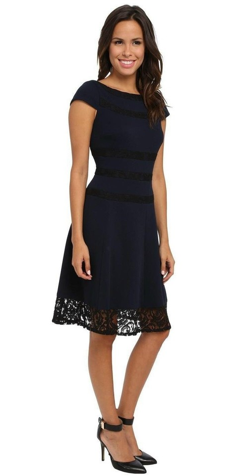 Adrianna Papell Spliced Lace Fit Amp Flare Plus Size 22w