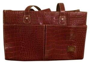 Liz Claiborne Snakeskin Classic Satchel in Red