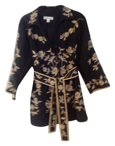 Coldwater Creek Black and gold Blazer