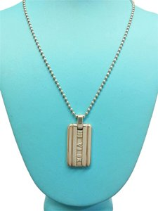 Tiffany & Co. Tiffany & Co Sterling Silver Atlas Collection Tag Necklace