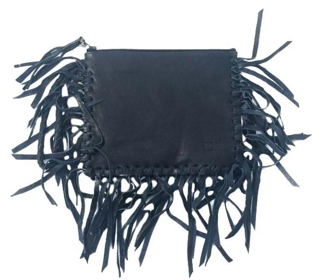 Item - Carried Navy Blue Leather Clutch