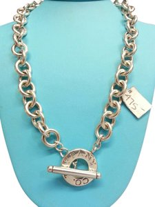 Tiffany & Co. Tiffany and Co. Sterling Silver Charm Necklace with Toggle Closure