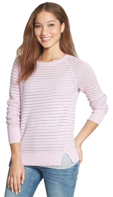 Preload https://img-static.tradesy.com/item/6837037/halogen-purple-bloom-stitch-stripe-raglan-scoop-neck-lavender-knit-sweaterpullover-size-2-xs-0-1-650-650.jpg