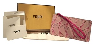 Fendi Qutweet Bird Bird Qutweet Monster Wristlet in pink