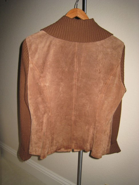 Ami Sport Suede Sweater Sweater Vest Suede Sweater Zippered Suede Sweater Terracotta Leather Jacket