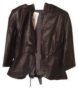 Juicy Couture Black Tweed Leather Jacket