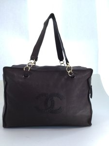 Chanel Large Shopper Tote in Brown