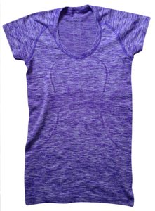 Lululemon Lululemon Run Swiftly Tee, Scoop Neck, Heathered Bruised Berry, Space Dye, Sz 6