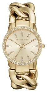 Michael Kors Michael Kors Lady Nini MK3235 Gold Stainless Chain Link Womens Watch
