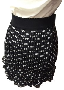 PHI Mini Skirt Black with white polka dots