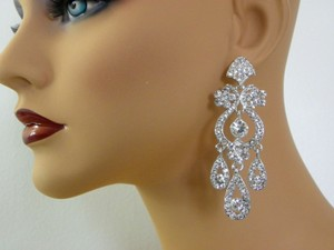 Chandelier Earrings Bridal Wedding Earrings Crystal Bridal Jewelry Vintage Style Long Bridal Earrings Swarovski Danella