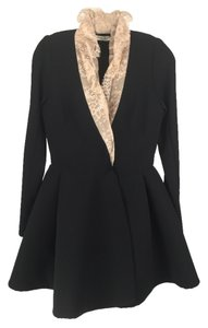 Natasha Zinko Black With Lace Collar Coat