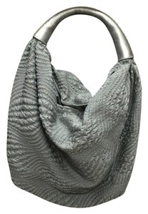 Cole Haan Silver Aria Soft Hobo Bag