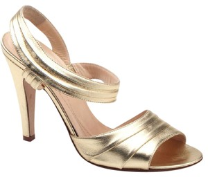Kate Spade Leather Glamorous Gold / metallic Sandals