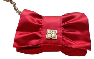 BCBGMAXAZRIA Satin Red Clutch