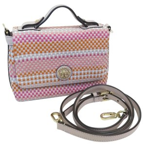 Tory Burch Leather Woven Cross Body Bag