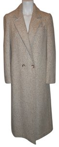 Ashley Scott Wool Herringbone Coat