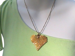 12k Yellow Gold Filled Leaf Necklace