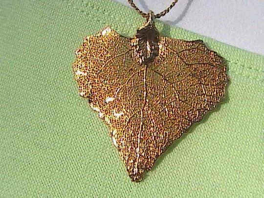 Other 12k Yellow Gold Filled Leaf Necklace Image 1