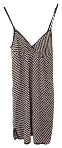 Quiksilver short dress Silk Silk Stripe Stripe Navy And White on Tradesy