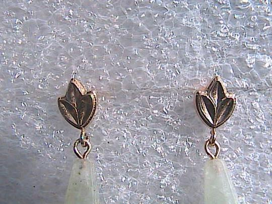 Other 14k Yellow Gold Jade Earrings Image 1