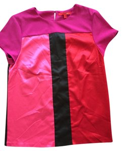 Narciso Rodriguez Top Mixed red/black/hot pink
