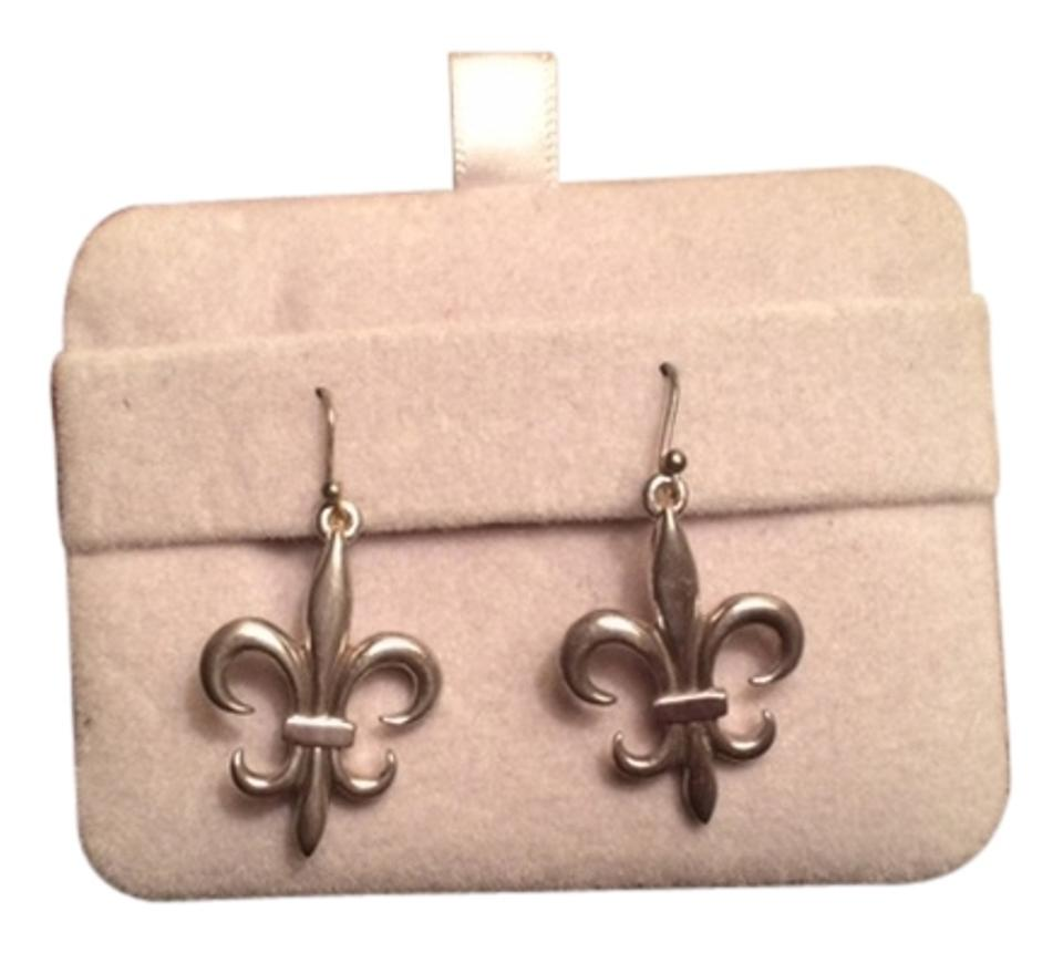 Ralph Lauren Sterling Silver 925 Fleur De Lis Earrings