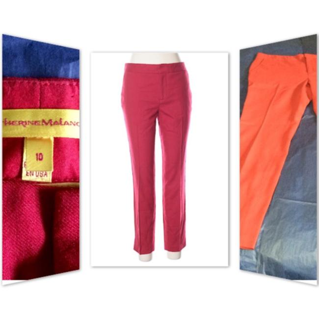 Catherine Malandrino Trouser Pants Red Image 1