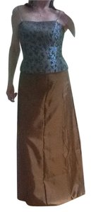 Xscape set Maxi Skirt Caper and dusty blue top
