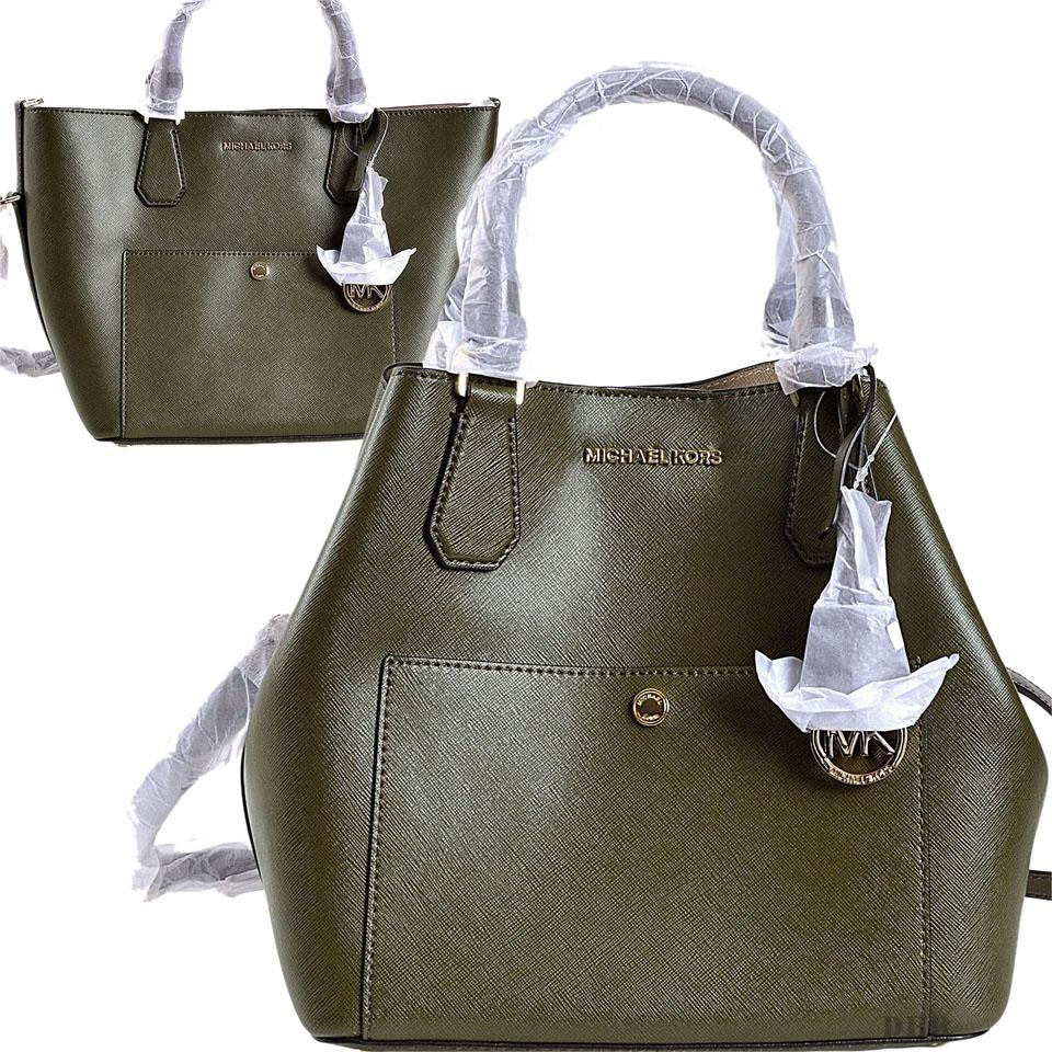 8900a4141130 Michael Kors 30s5ggrt7u Olive Mk Large Shoulder Tote in Green Image 0 ...