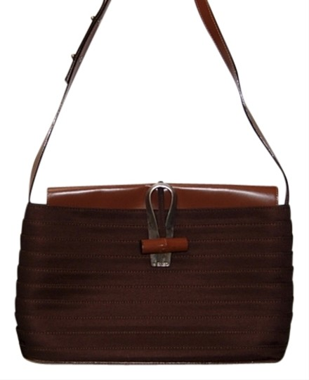 Preload https://item2.tradesy.com/images/kenzo-brown-gros-grain-with-leather-shoulder-bag-684451-0-0.jpg?width=440&height=440