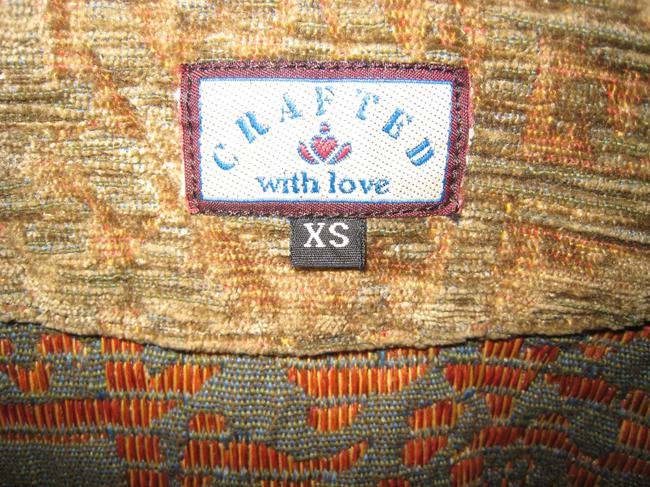 Made With Love Tapestry Tapestry Art Show Hand Woven Hand Blazer Gold & mint green blend Jacket