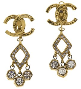 Chanel Chanel Vintage CC Rhinestone Earrings
