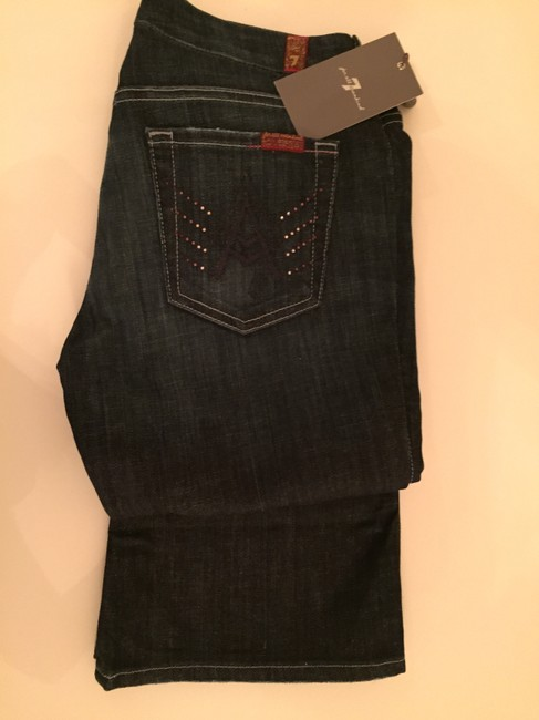 7 For All Mankind Boot Cut Jeans-Dark Rinse Image 1