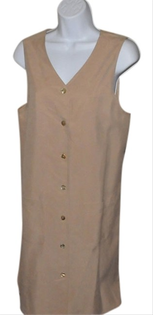 Preload https://img-static.tradesy.com/item/6846373/talbots-beige-a-line-jumper-knee-length-workoffice-dress-size-6-s-0-1-650-650.jpg
