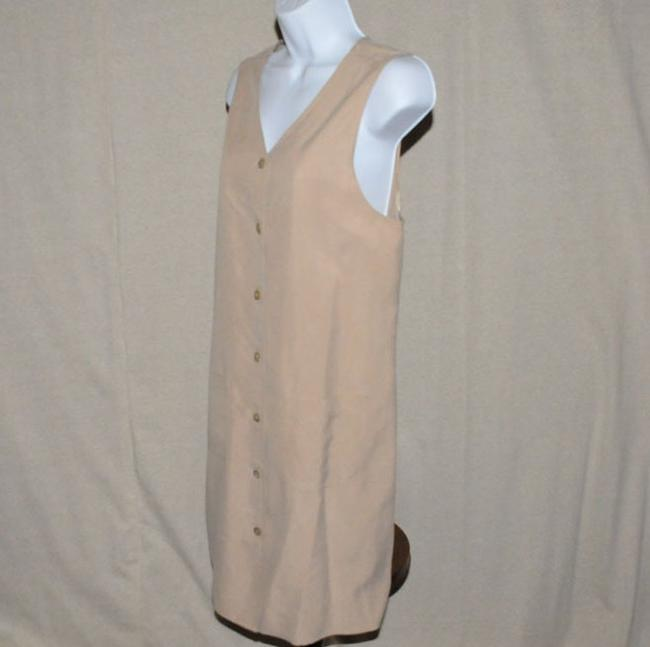 Talbots V Neckline Button Front Knee Length Size 6 Dress Image 1