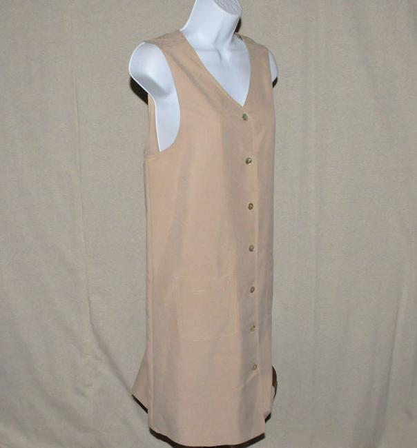 Talbots V Neckline Button Front Knee Length Size 6 Dress Image 5