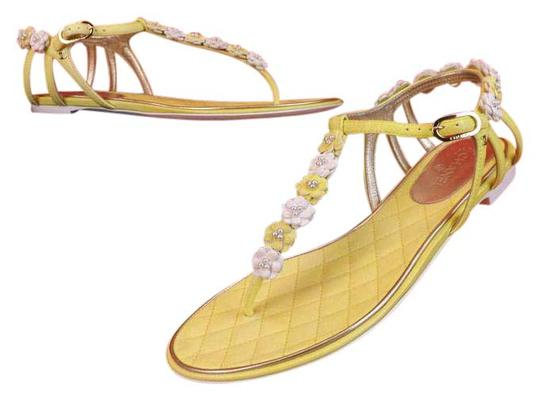 Chanel New In Box YELLOW Sandals Image 2