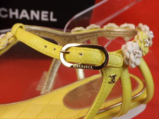 Chanel New In Box YELLOW Sandals Image 4