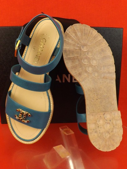 Chanel BLUE Sandals Image 10