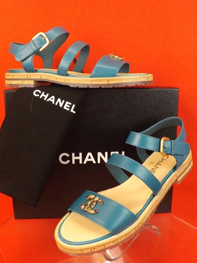 Chanel BLUE Sandals Image 4