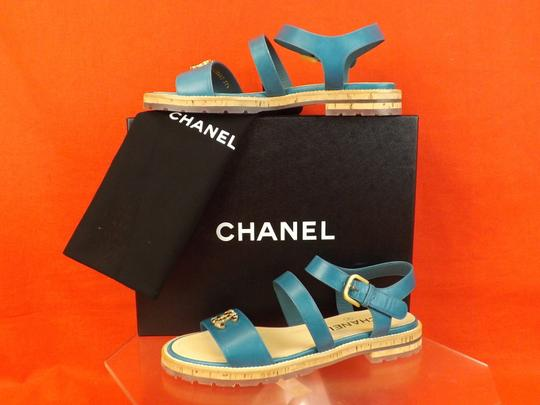 Chanel BLUE Sandals Image 6