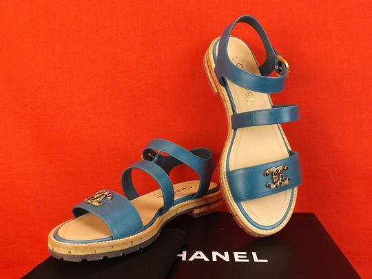 Chanel BLUE Sandals Image 7