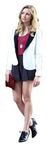 Anthropologie Boyfriend Ivory Jacket Ivory/Black Blazer