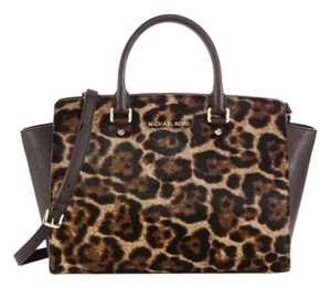 Michael Kors Crossbody Strap Satchel in Brown Leopard