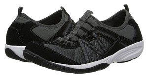 Easy Spirit Walking Running Hiking Leather Textile Black Athletic