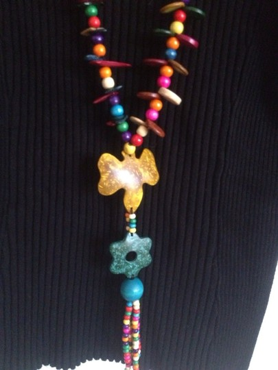 0 Degrees Colorful Wood Necklace