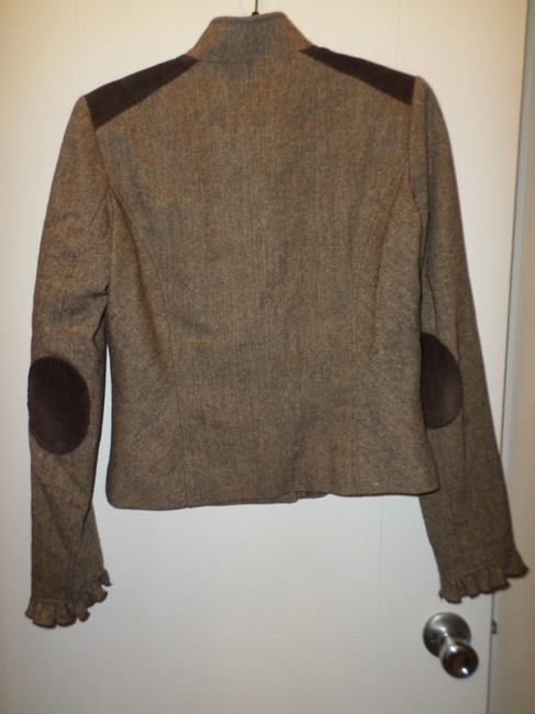To the Max Ruffle-front Brown Blazer Image 1