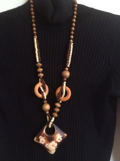 Chinese Laundry Wood Classic Necklace